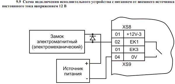 Схема подключения ACS-102-CE-S 10.