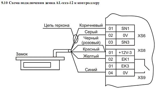 Схема подключения ACS-102-CE-B 11.