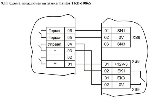 Схема подключения ACS-102-CE-BM 12.