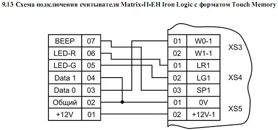Схема подключения ACS-102-CE-BM 14.
