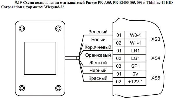 Схема подключения ACS-102-CE-B 20.