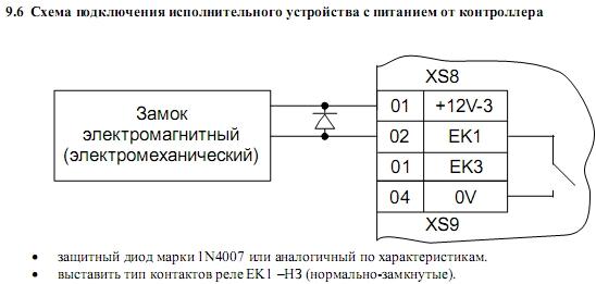 Схема подключения ACS-102-LE-BM 7.