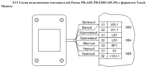 Схема подключения ACS-102-LE-B 14.