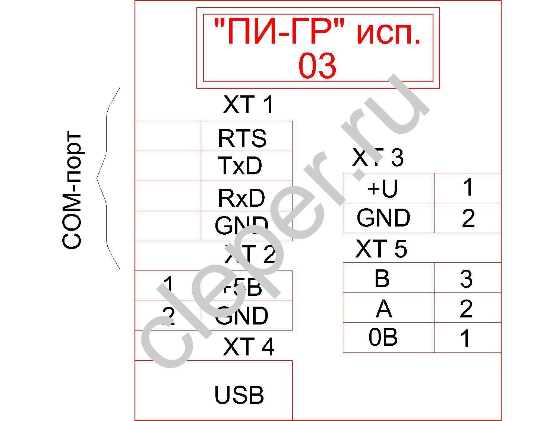 Схема подключения пи