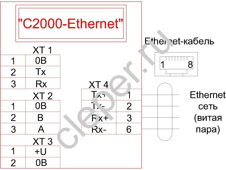 схема подключения с 2000