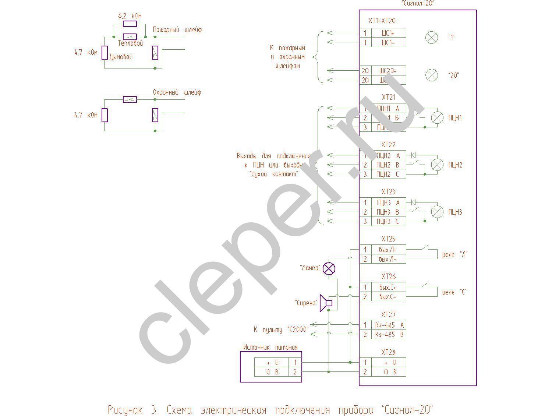 Ип 101 схема подключения к сигнал 20 фото 547