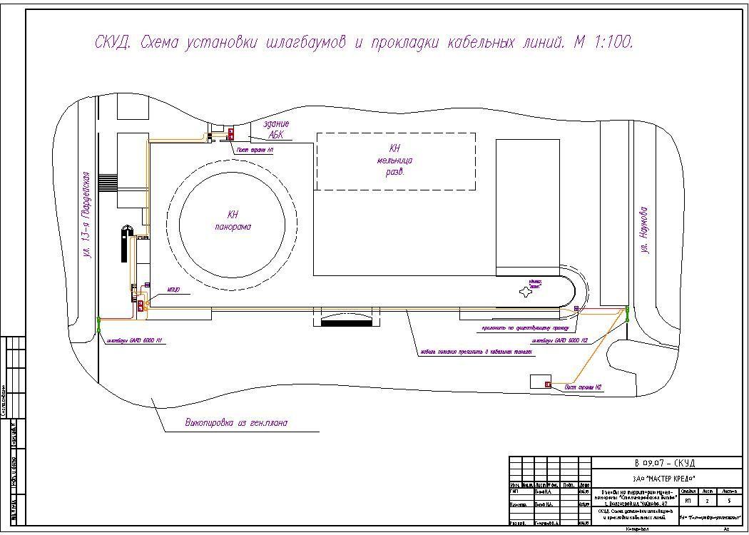 Схема для установки шлагбаума во дворе